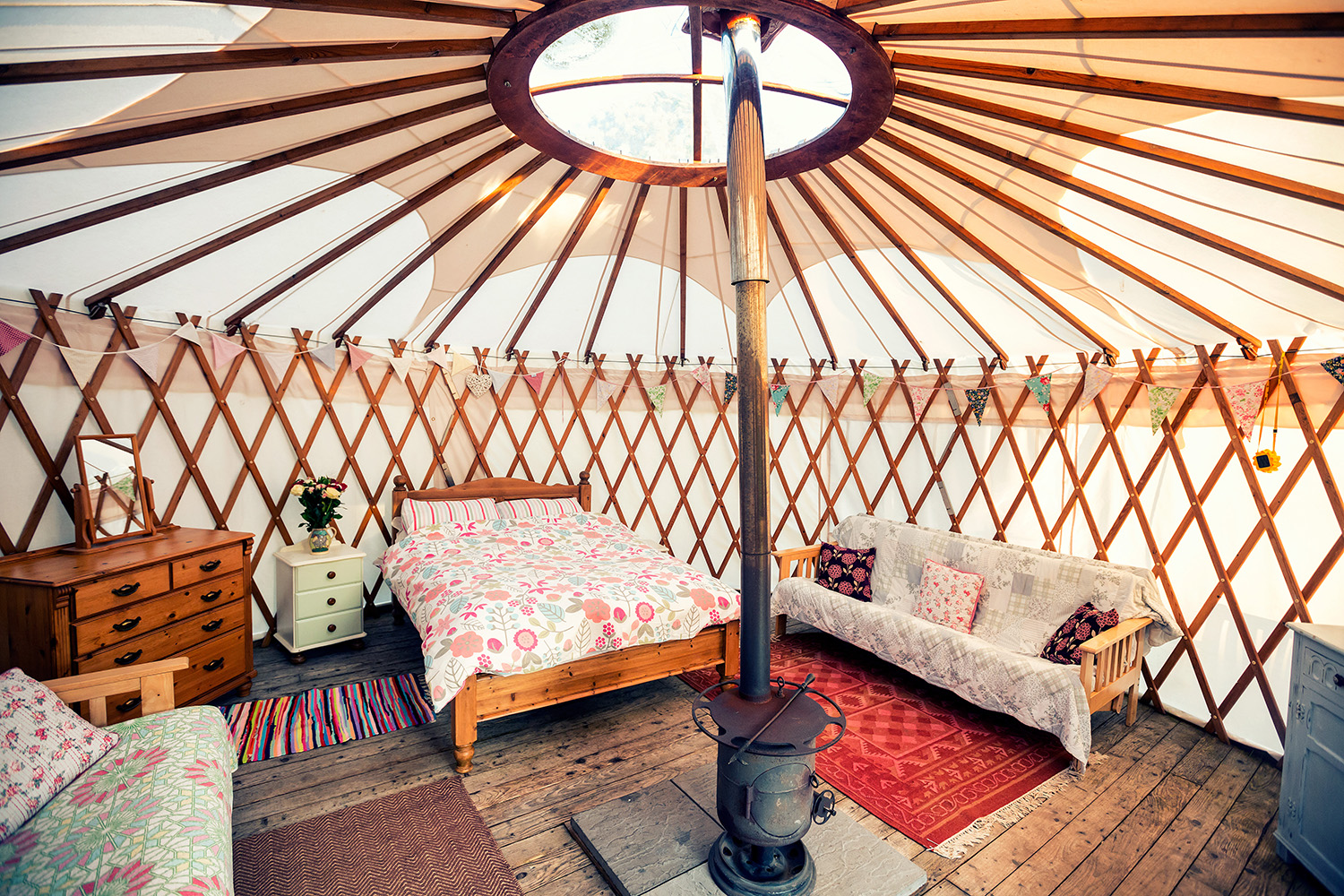 Clover Yurt at CuckoDown Farm