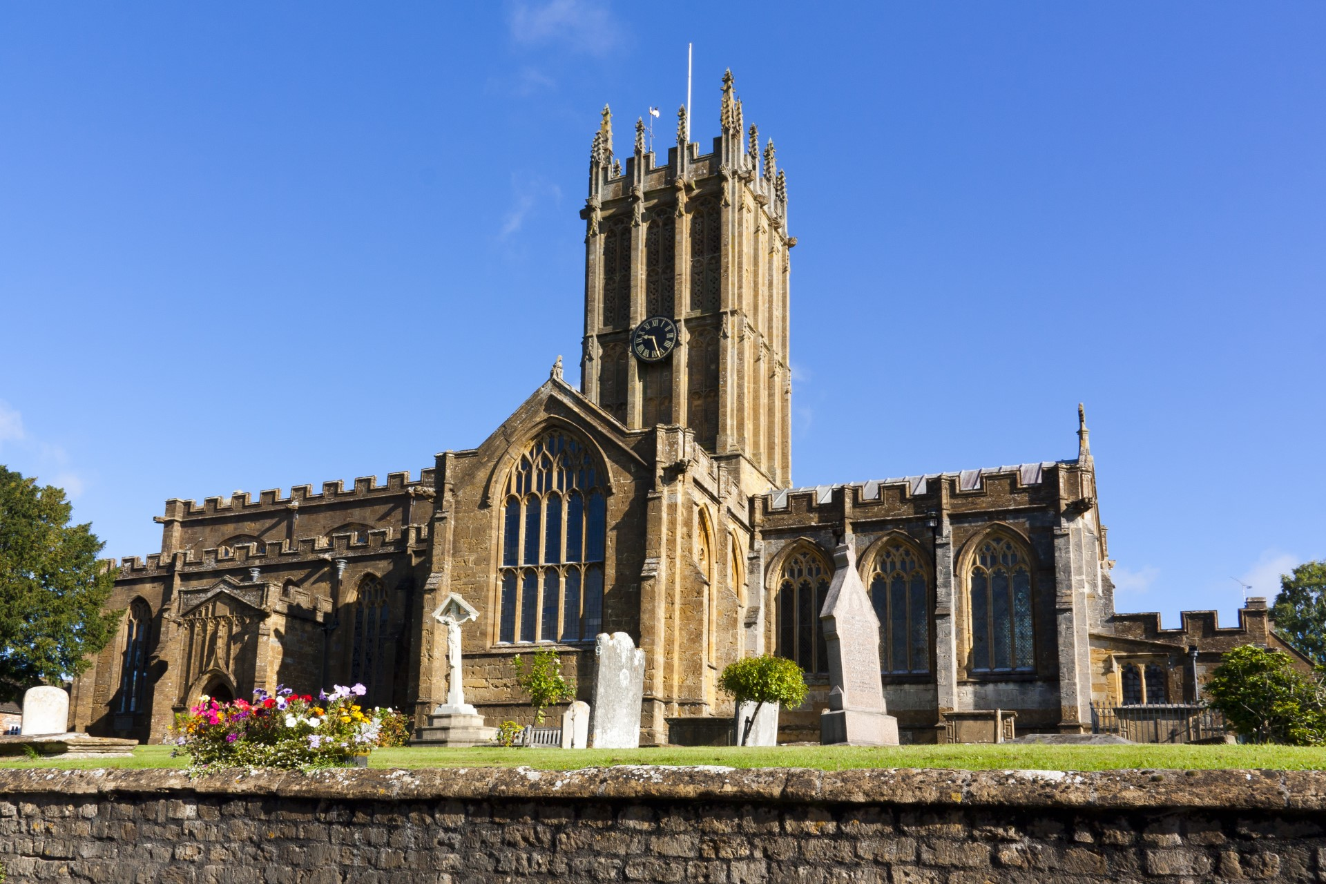 Ilminster town church in West Somerset