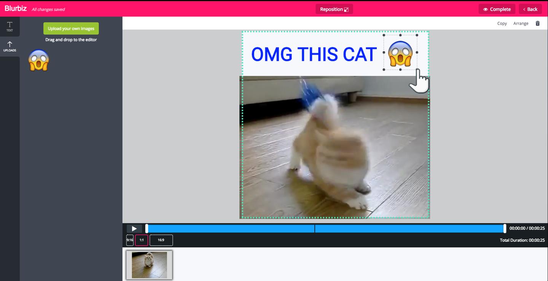 Add emojis to Video online