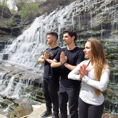Yoga Fest. What inspired these three to start a yoga revolution? Meet Anthony, Joanna and Daniel.