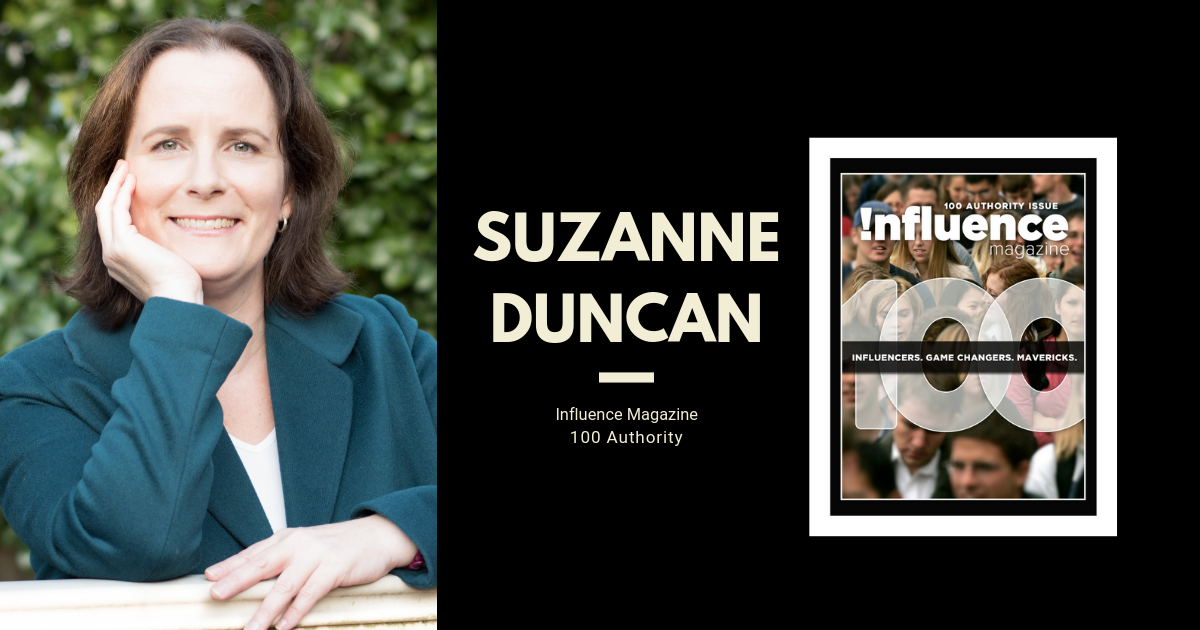Suzanne Duncan Influence Magazine 100 Authority