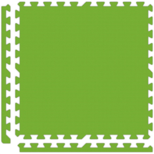 Soft Flooring in Lime Green