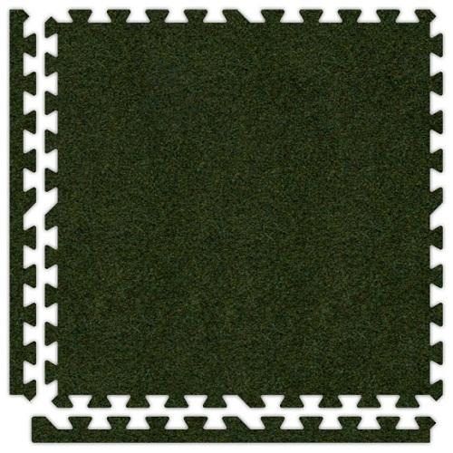Premium Soft Carpet in Grass Green