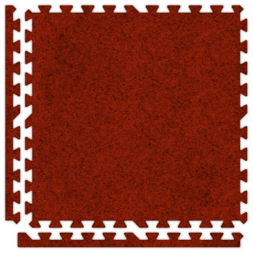 Premium Soft Carpet in Red