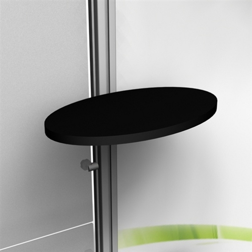 Exhibitline Front Mount Ellipse Shelf