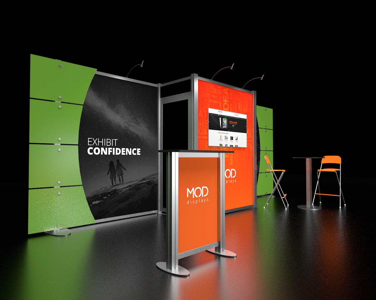 Modular Exhibition Stands Tall : Xvline trade show displays moddisplays
