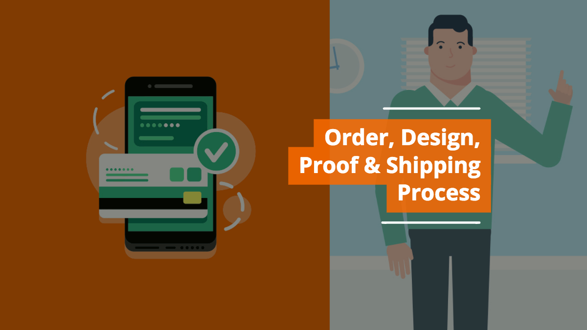 Order, Design, Proof & Shipping Process