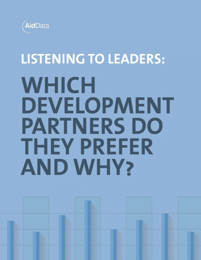 Listening to Leaders: Which Development Partners Do They Prefer and Why?