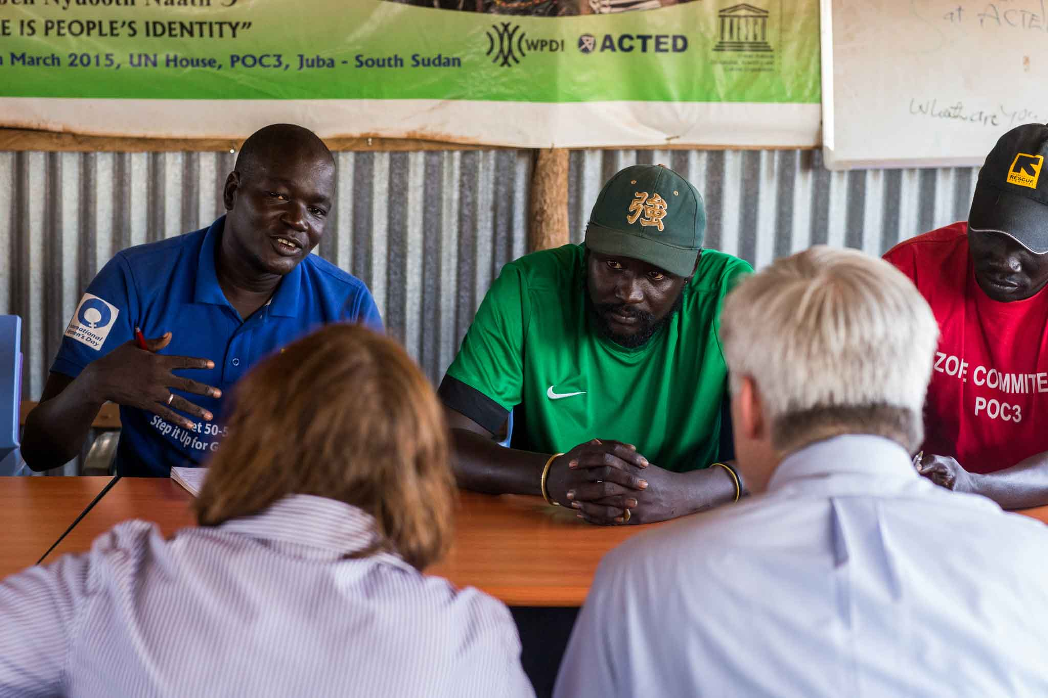 A US delegation visited Protection of Civilians sites in Juba, South Sudan on May 27, 2016, meeting with camp leaders and women's representatives. The delegation included, among others, the US Ambassador to South Sudan and the USAID Mission Director in South Sudan.