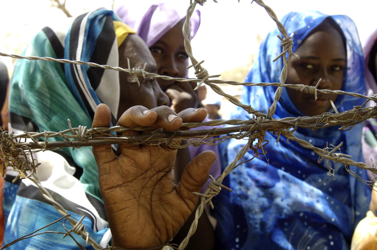 Internally Displaced Persons (IDPs) at Zam Zam camp outside El Fasher, Sudan in May 2008.
