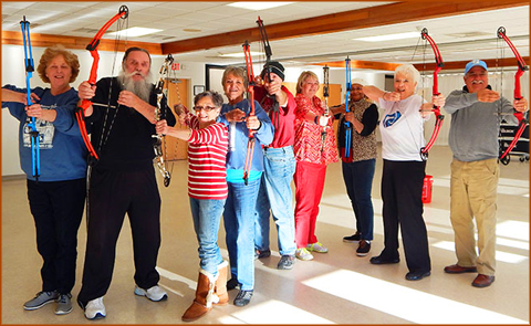 Archery Class at Senior Center