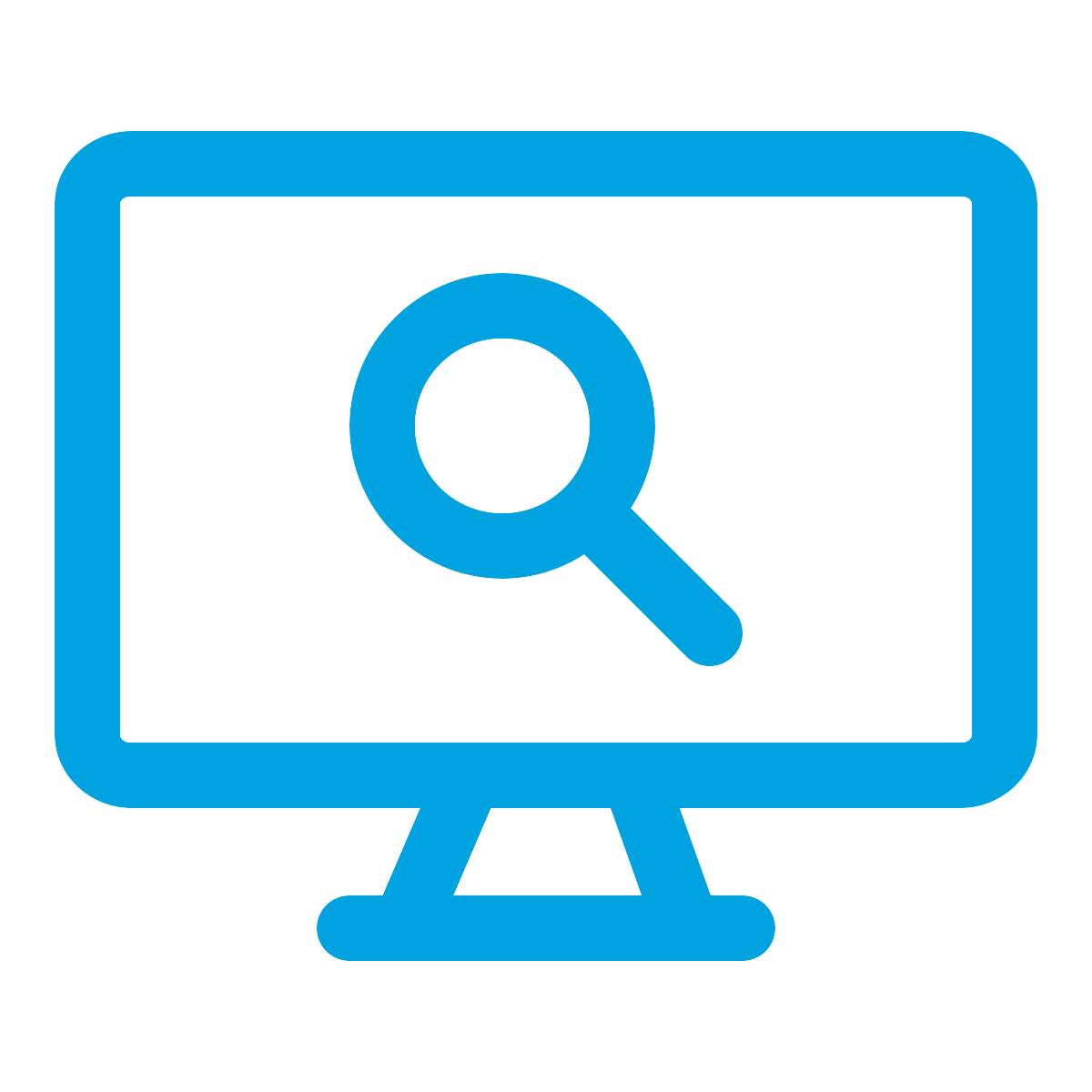 Search Symbol on a Computer Monitor