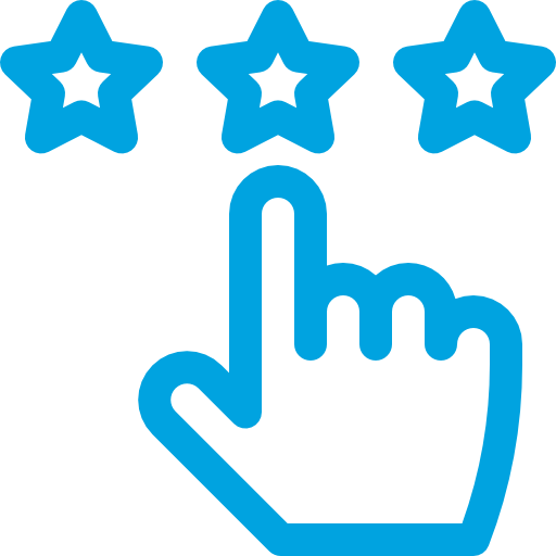 Hand Pointing to the Middle of Three Stars Above