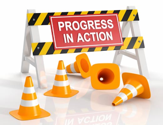 Progress in Action sign