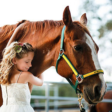 Photo of Child with Stubby the Horse Image