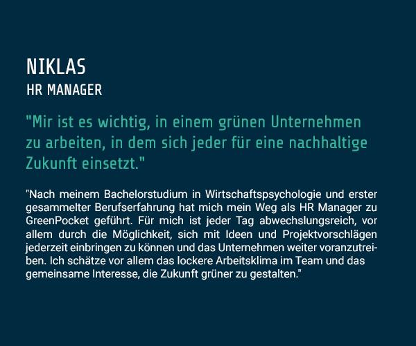Zitat Niklas - HR Manager