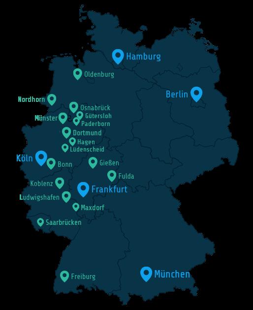 Energieversorger Deutschlandkarte
