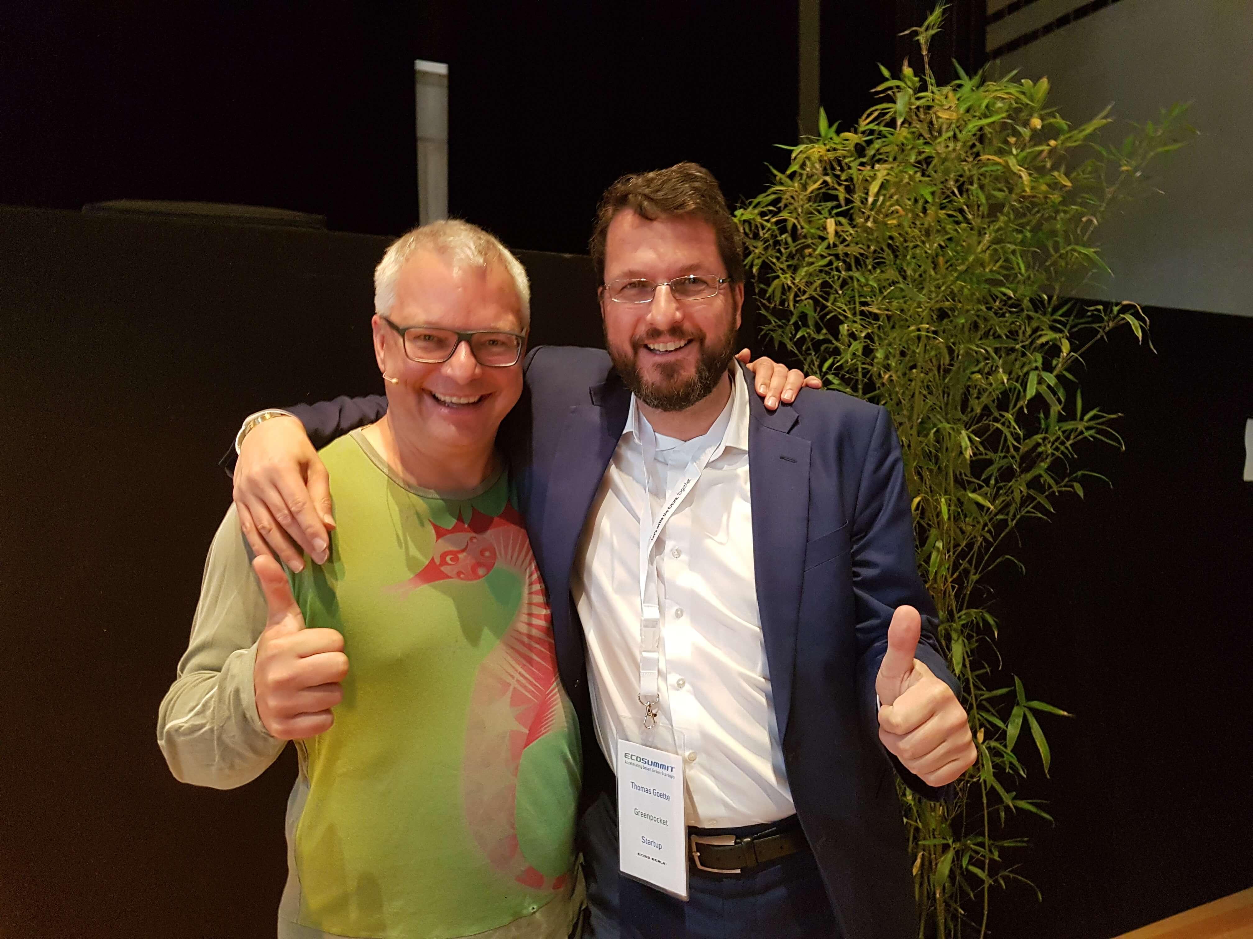 Jan Michael Hess und Dr. Thomas Goette auf dem Ecosummit 2019