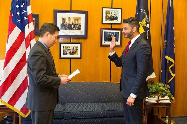 Department of Labor swearing in ceremony  - Ammar Campa-Najjar for Congress CA50