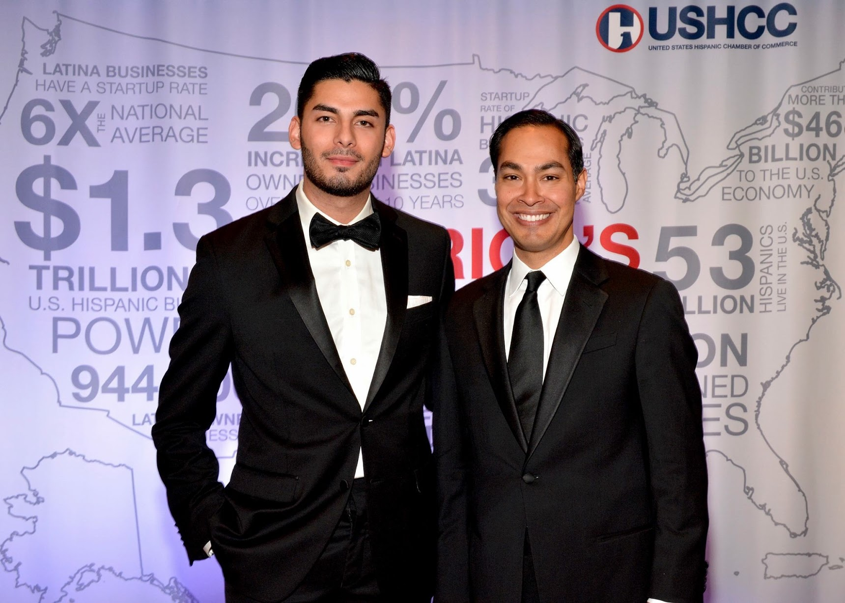 Ammar and Julian Castro at the US Hispanic Chamber of Commerce