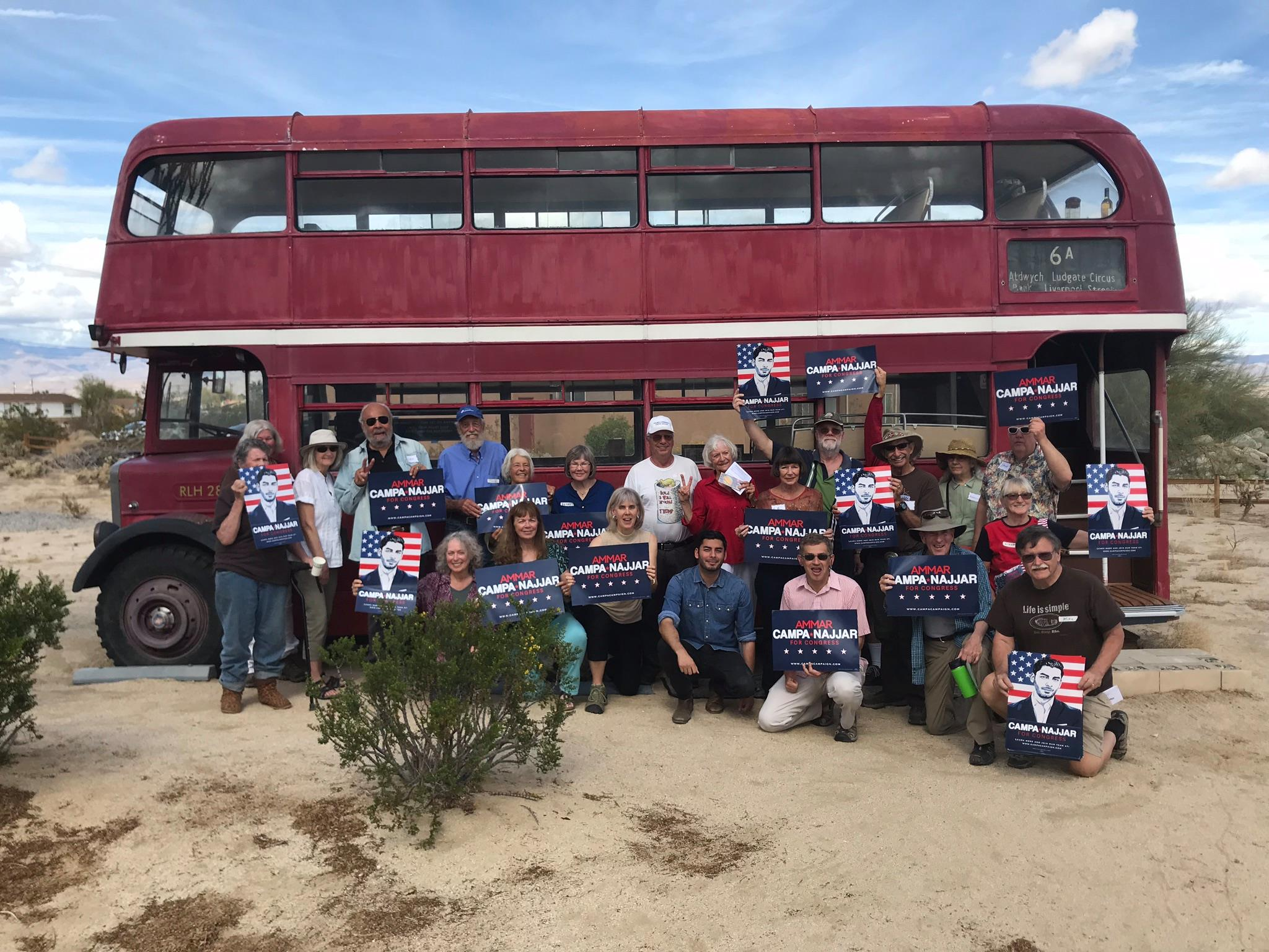 Meeting with supporters in Borrego Springs - Ammar Campa-Najjar for Congress CA50