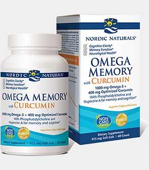 Omega Memory with Curcumin