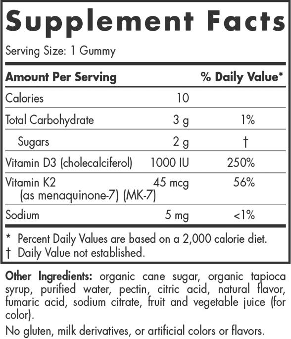Vitamin D3+K2 Gummies