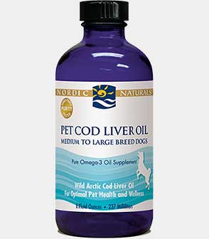 Pet Cod Liver Oil for Medium to Large Breed Dogs