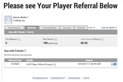 HJGT Player Referral Screenshot