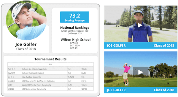 Resumes And Swing Videos  College Golf Resume