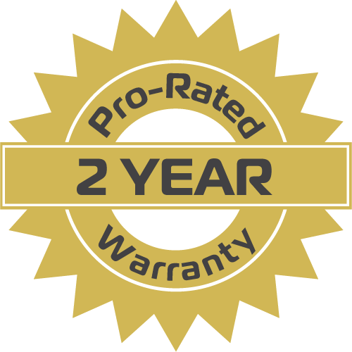 2-year used tire warranty sticker