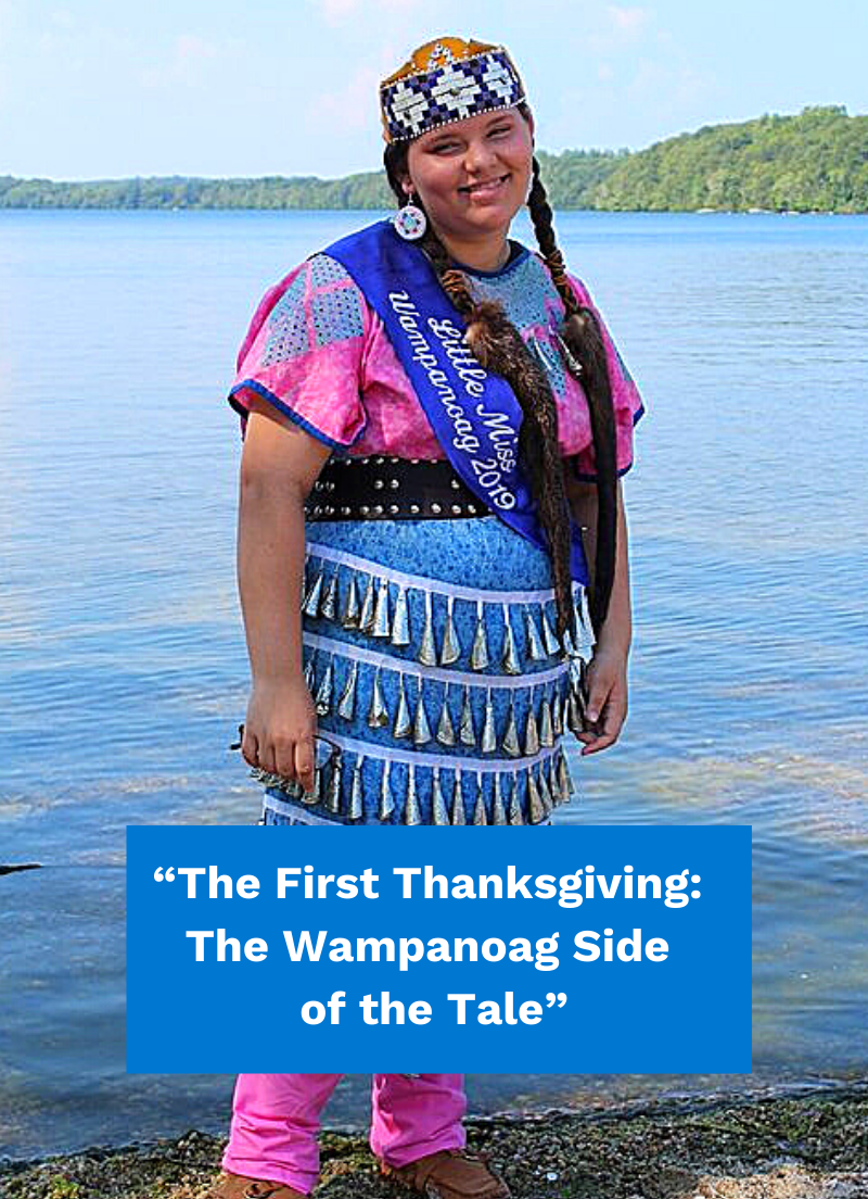 Wampanoag girl - history of Thanksgiving