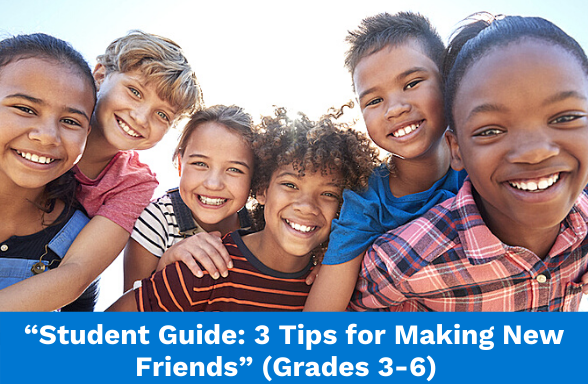 Assignment on how to make friends, featuring a group of smiling students