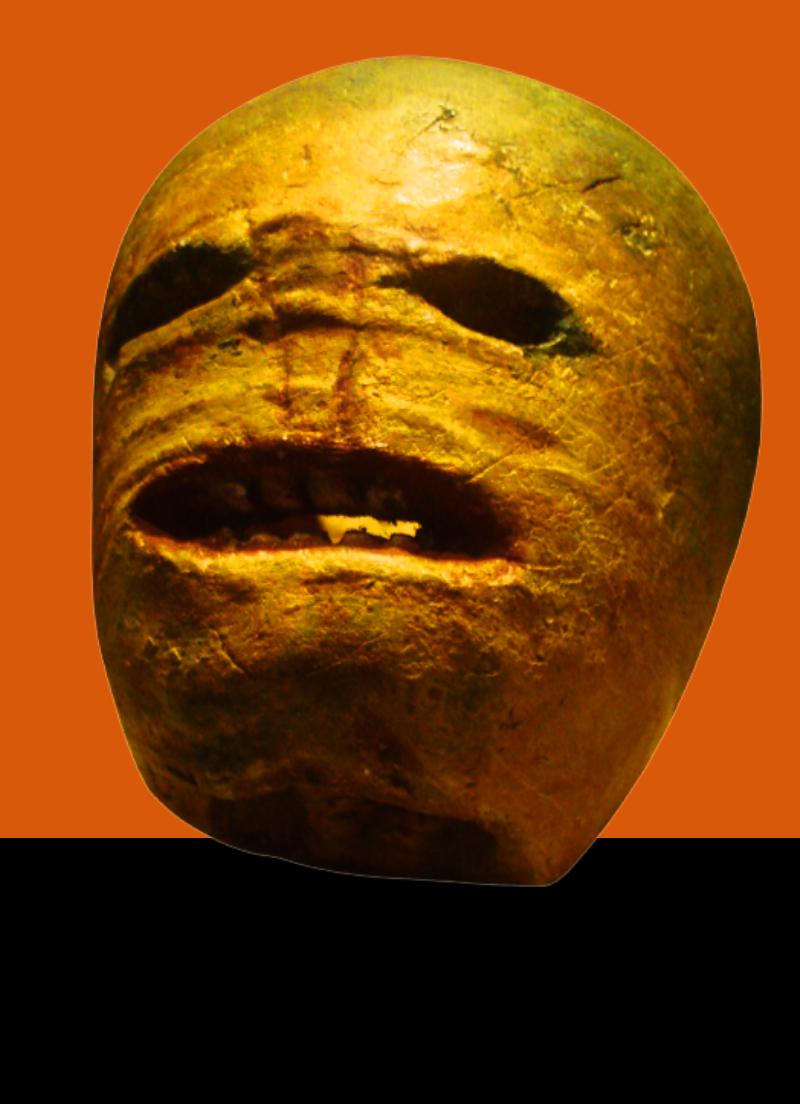Historical turnip lantern for Halloween