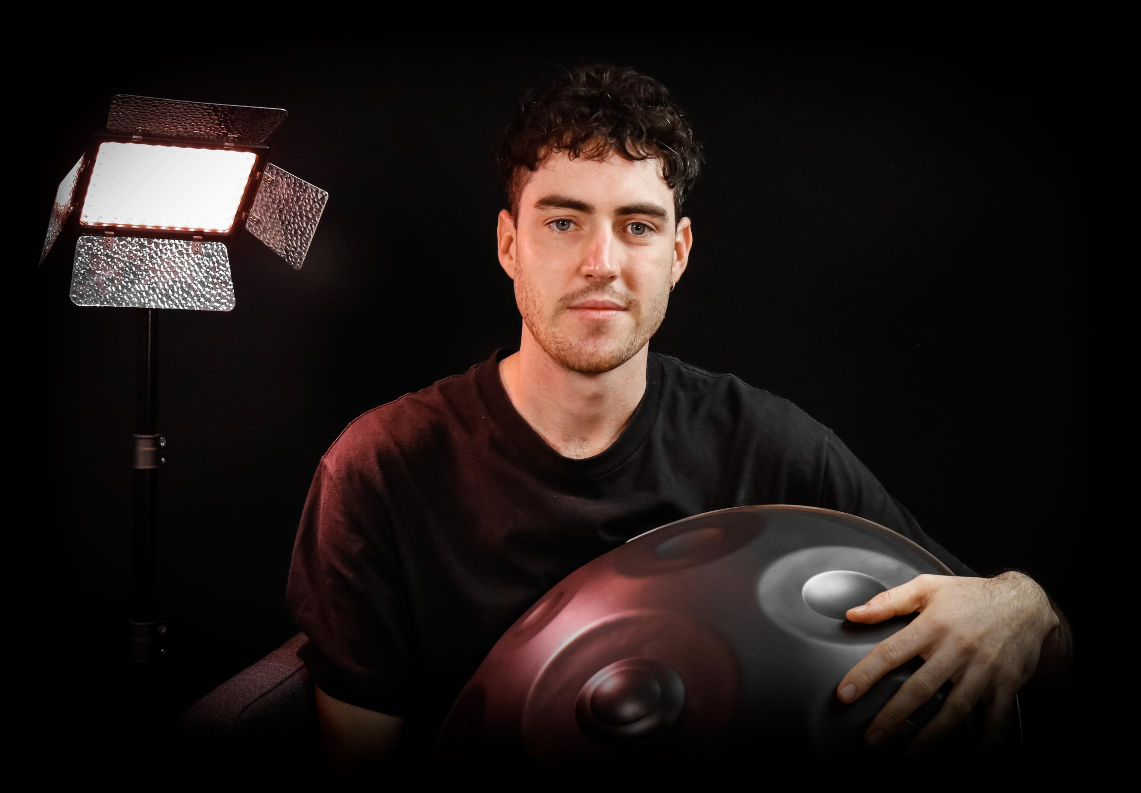 Sam Maher teaches handpan