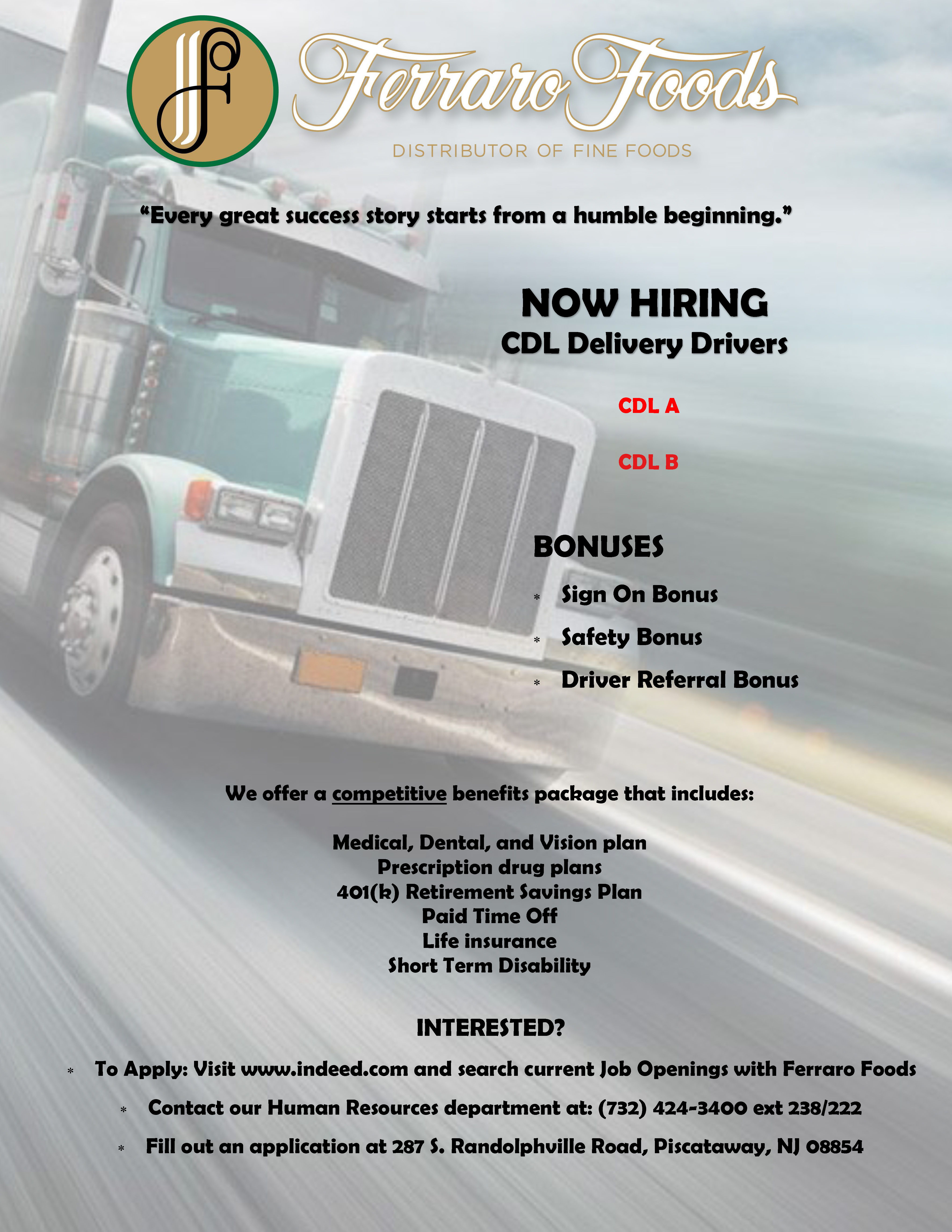 Careers - Join the Ferraro Foods team