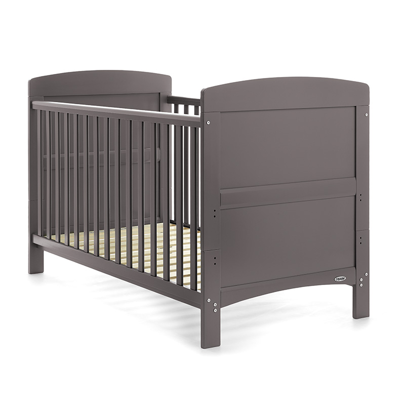 Grace Cot Bed Grey inc Foam Mattress