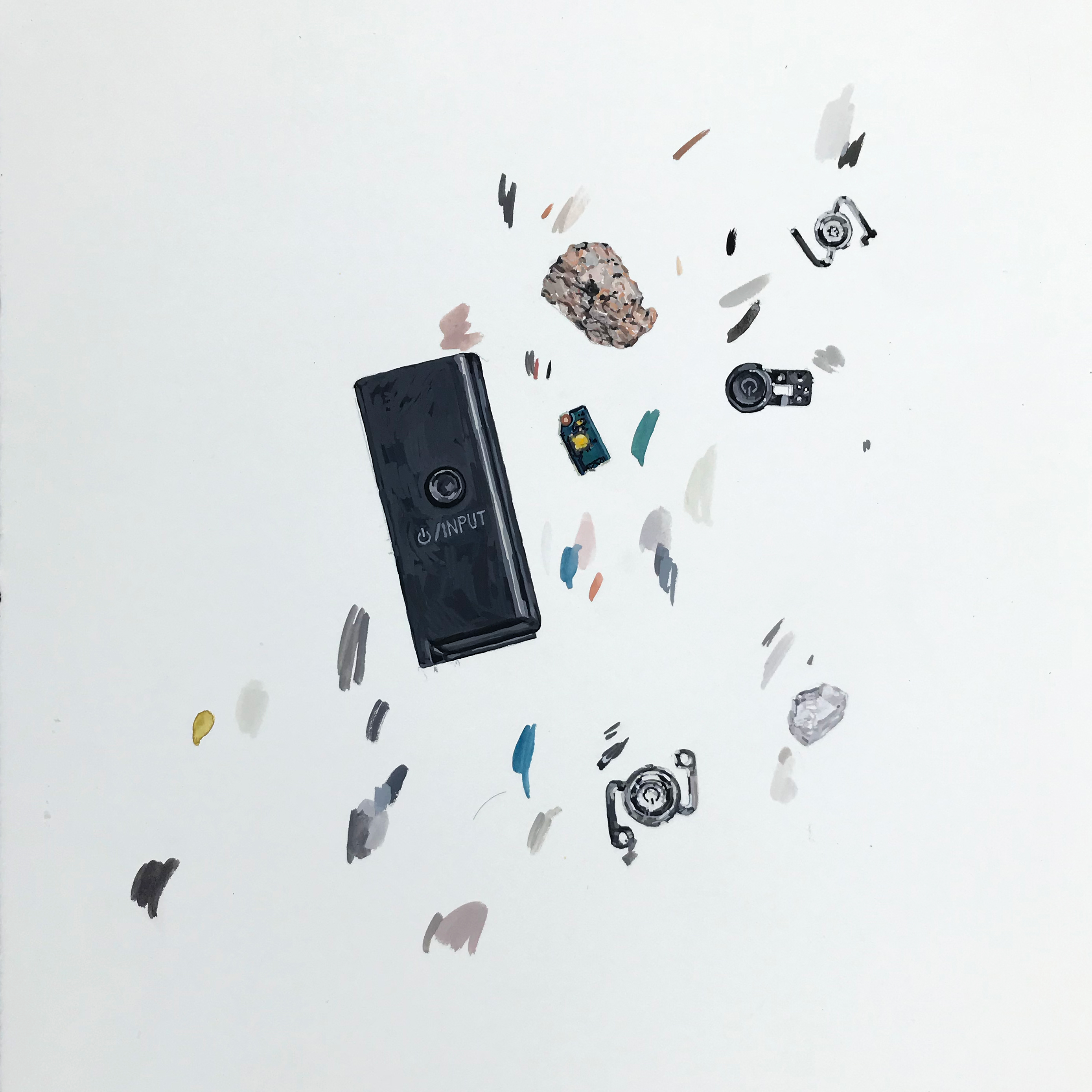 Black Iphone Crystal and Remains