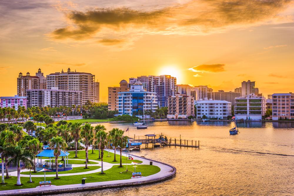 Sarasota Florida from the water