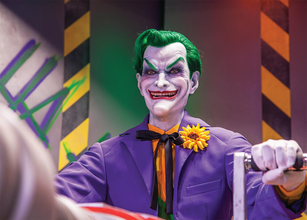 The Joker menacing the streets of Metropolis