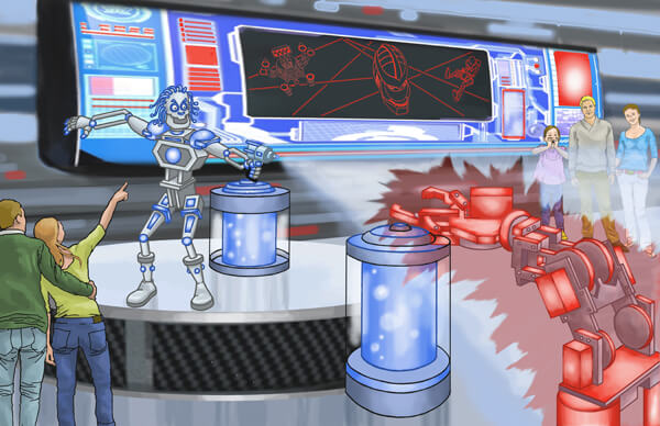 Scene 2 (Pre-show) - Mechatronics Lab
