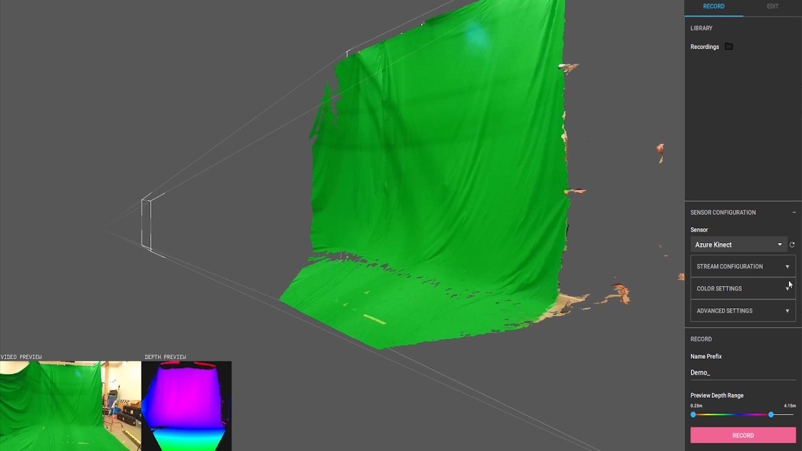Sensor Capture + Azure Kinect + Refinement Workflow