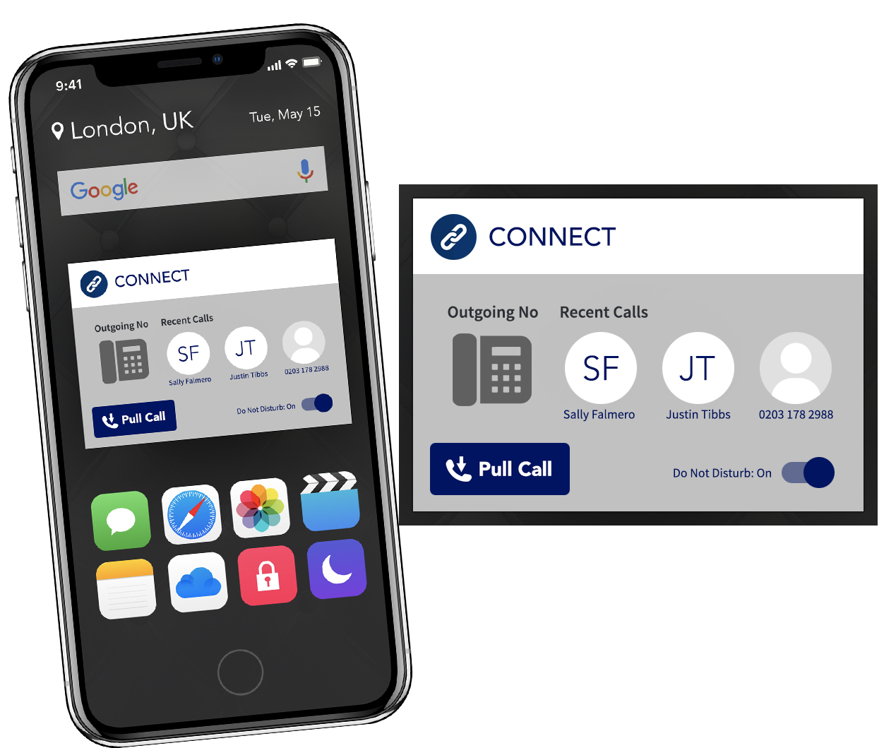 Connect Mobile integrates your mobile phone with your internal phone system and, allows landline, mobile, and laptop communications to converge.