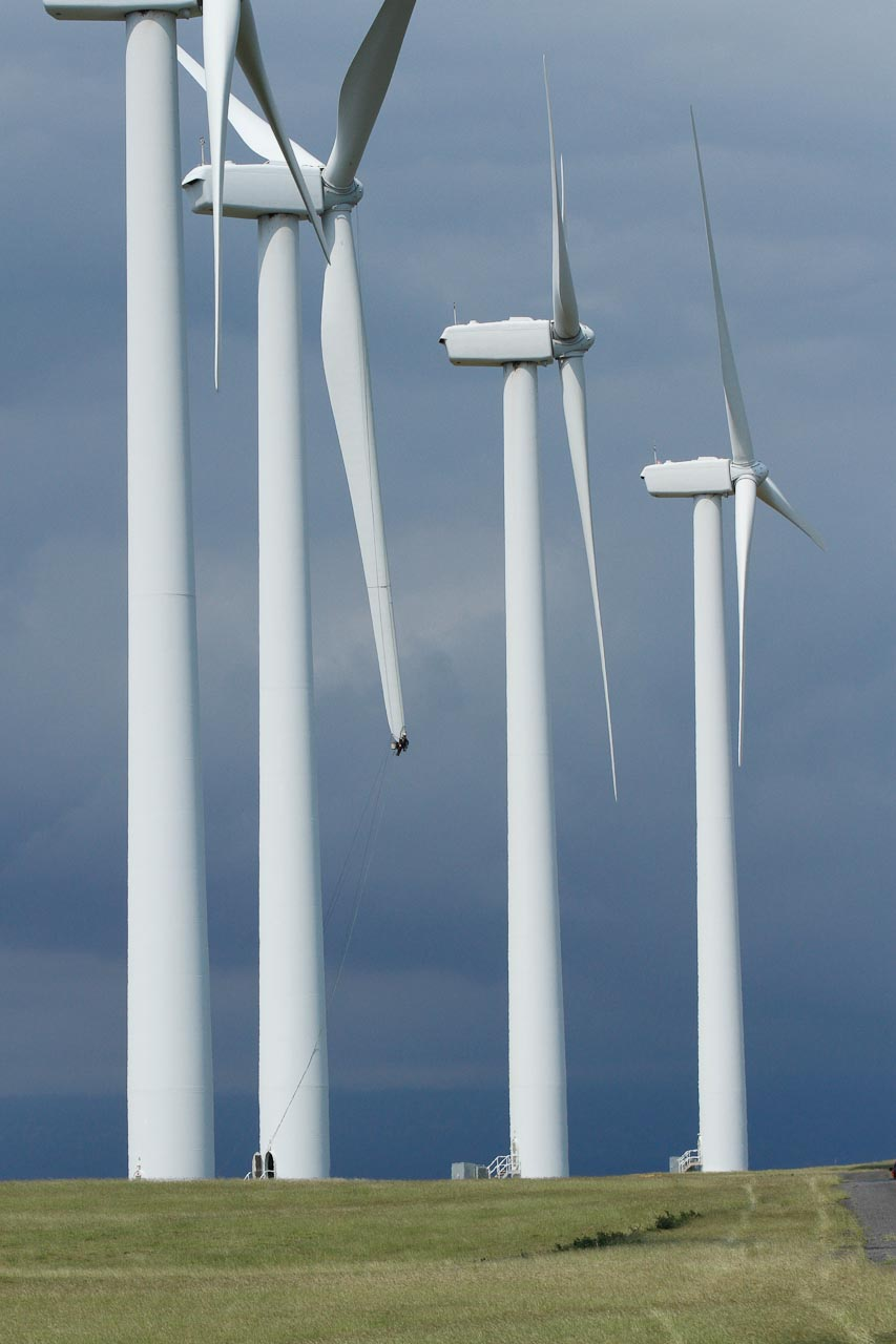 Wind turbines in Hawaii