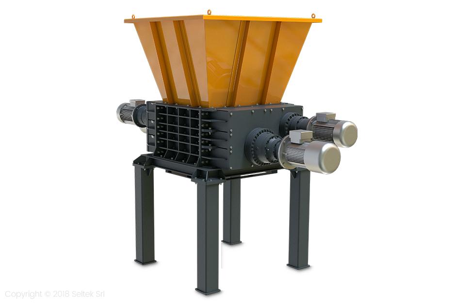 Four-shaft industrial shredders – F