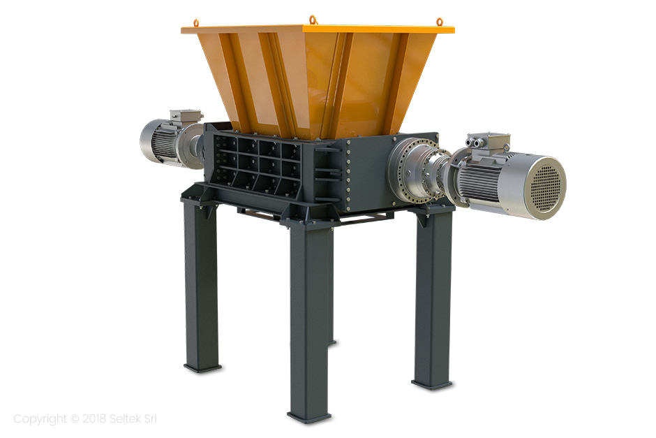 Double-shaft industrial shredders – series D