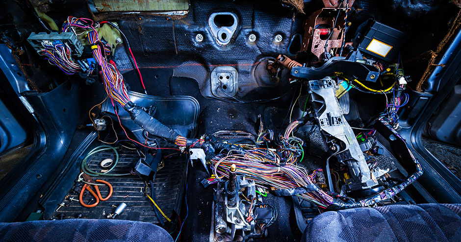 Car looms and wire harness recycling | STOKKERMILL Italy | Hydraulic Powered Car Wiring Harness |  | STOKKERMILL