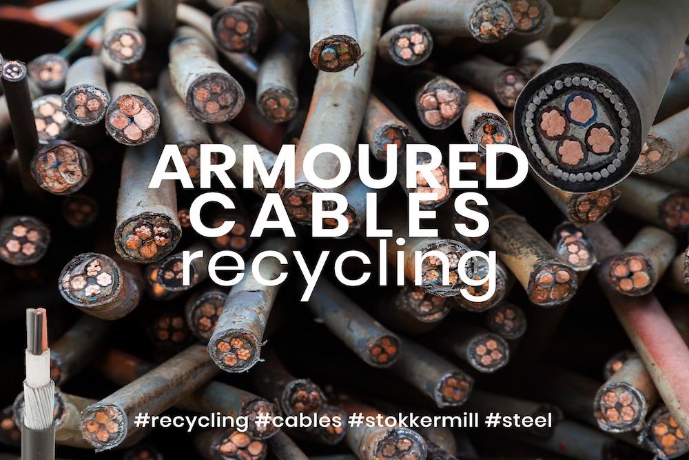 Recycling von Panzerkabeln