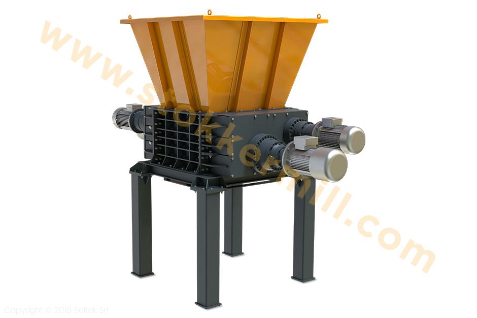 trituratori quadrialbero per riciclaggio toner