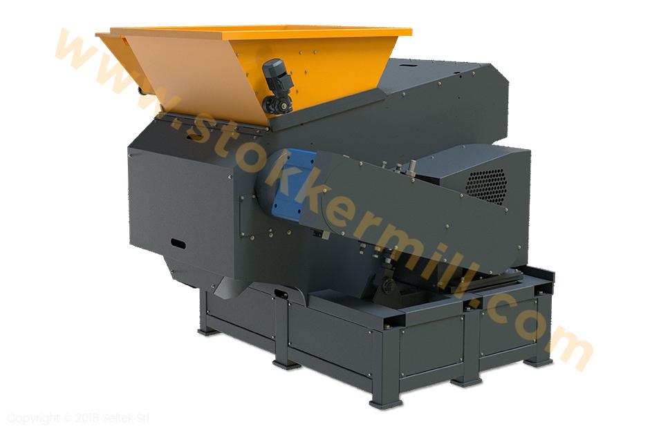 Trituratori monoalbero con griglia classificatrice per il controllo della pezzatura in uscita